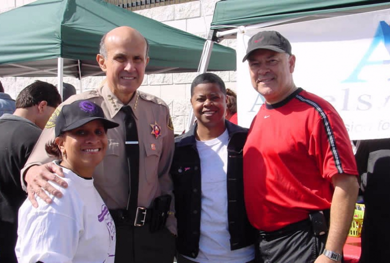 Angels for Sight Founder Shea Hamilton and Los Angeles Sheriff Lee Baca