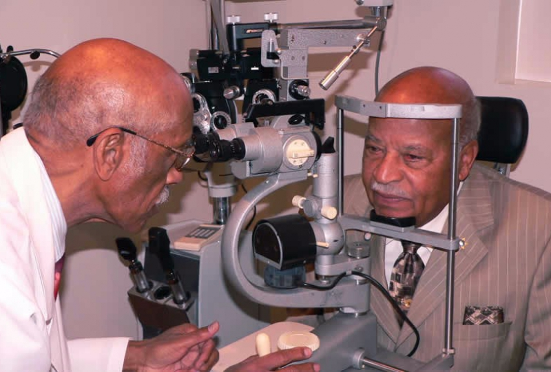 Eye Exam in Progress